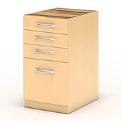 "Mayline® Aberdeen Desk PBBF Pedestal 15-1/4""W x 26 1/2""D x 27-1/2""H Maple"