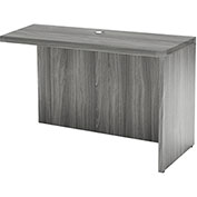 "Mayline® Aberdeen Return 42""W x 24""D 42""W x 24""D x 29-1/2""H Gray Steel"