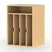 Mayline® Aberdeen Series Vertical Paper Management Maple
