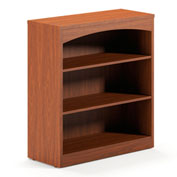 Mayline® Brighton Series Bookcase 3 Shelf Cherry