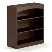Mayline® Brighton Series Bookcase 3 Shelf Mocha