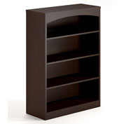 Mayline® Brighton Series 4 Shelf Bookcase Mocha