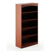 Mayline® Brighton Series 5 Shelf Bookcase with 1 Fixed Shelf Cherry