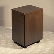 Mayline® Brighton Series Box-Box-File Mobile Pedestal Mocha