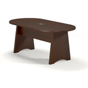 Mayline® Brighton Series 6' Conference Table Mocha