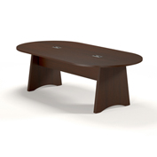Mayline® Brighton Series 8' Conference Table Mocha
