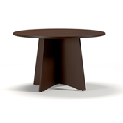 "Mayline® 48"" Round Conference Table Mocha - Brighton Series"
