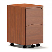Mayline® Brighton Series Mobile File-File Pedestal File Cherry