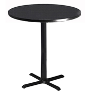 "Mayline® Bistro Series 30"" Round Bar Height Table Anthracite with Black Base"