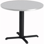 """Mayline® Bistro Series 30"""" Round Dining Height Table - Black Base Folkstone"""