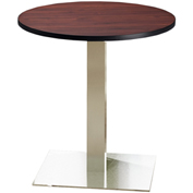 """Mayline® Bistro Series 30"""" Round Dining Height Table - Stainless Steel Base Regal Mahogany"""