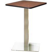 "Mayline® 30"" Square Bar Height Table - Regal Mahogany with Stainless Steel Base - Bistro Series"