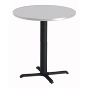 "Mayline® Bistro Series 36"" Round Dining Height Table Folkstone with Black Base"