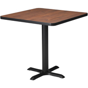 "Mayline® Bistro Series 36"" Square Dining Height Table - Black Base Regal Mahogany"