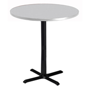 "Mayline® 42"" Round Bar Height Table - Folkstone with Black Base - Bistro Series"