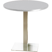 "Mayline® 42"" Round Bar Height Table - Folkstone with Stainless Steel Base - Bistro Series"