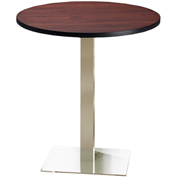 """Mayline® Bistro Series 42"""" Round Bar Height Table Regal Mahogany with Stainless Steel Base"""
