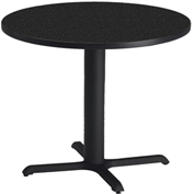 "Mayline® 42"" Round Dining Height Table - Anthracite with Black Base - Bistro Series"