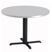 "Mayline® 42"" Round Dining Height Table - Folkstone with Black Base - Bistro Series"