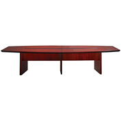Mayline® 12' Conference Table - Boat Shaped - Sierra Cherry - Corsica Series