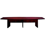 Mayline® 12' Conference Table - Boat Shaped - Mahogany - Corsica Series