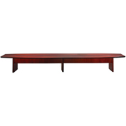 Mayline® Corsica Series 18' Boat-Shaped Conference Table Sierra Cherry