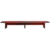 Mayline® Corsica Series 20' Boat-Shaped Conference Table Sierra Cherry