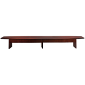 Mayline® Corsica Series 20' Boat-Shaped Conference Table Mahogany