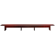 Mayline® Corsica Series 26' Boat-Shaped Conference Table Sierra Cherry