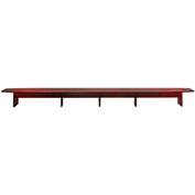 Mayline® Corsica Series 30' Boat-Shaped Conference Table Sierra Cherry
