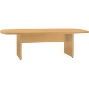 Mayline® Luminary Series 6' Convex Conference Table Maple