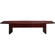 Mayline® Corsica Series 10' Boat-Shaped Conference Table Mahogany
