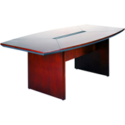 Mayline® 6' Conference Table - Boat Shaped - Sierra Cherry - Corsica Series