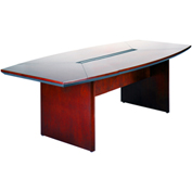 "Mayline® Conference Table - Boat Shaped - 84"" - Sierra Cherry - Corsica Series"