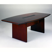 Mayline® Corsica Series 7' Boat-Shaped Conference Table Mahogany