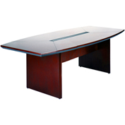 Mayline® Corsica Series 8' Boat-Shaped Conference Table Mahogany