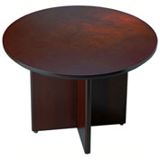 Mayline® Corsica Series Round Conference Table Mahogany