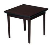 "Mayline® End Table - 24"" - Mahogany - Corsica Series"