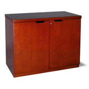 "Mayline® Mira Series Hinged Door Credenza with 36"" Medium Cherry"