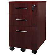 Mayline® Medina Series Box-Box-File Mobile Pedestal Mahogany