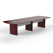 Mayline® 12' Conference Table - Mahogany - Medina Series