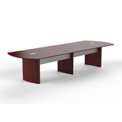 Mayline® Medina Series 14' Conference Table Mahogany