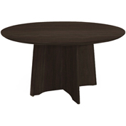 "Mayline® 48"" Round Conference Table - Mocha - Medina Series"