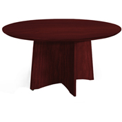"Mayline® 48"" Round Conference Table - Mahogany - Medina Series"