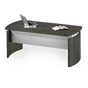 "Mayline® Medina 63""W Desk 63""W x 36""D x 29-1/2""H Gray Steel"
