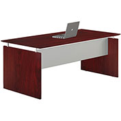 "Mayline® Medina 63""W Rectangle Straight Desk 63""W x 36""D x 29-1/2""H Mahogany"