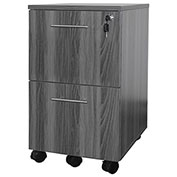 Mayline® Medina Series File-File Mobile Pedestal Gray Steel