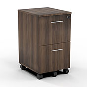 Mayline® Medina Series File-File Mobile Pedestal Textured Brown Sugar