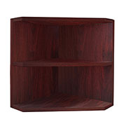 "Mayline® Medina Corner Support for Hutch 15""W x 15""D x 18""H Mahogany"