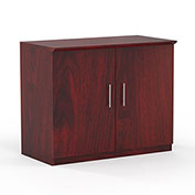 "Mayline® Medina Series 36"" Storage Cabinet with Wood Doors Mahogany"
